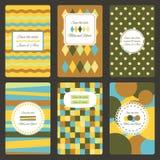 Κάρτες πρόσκλησης καθορισμένες Στοκ φωτογραφία με δικαίωμα ελεύθερης χρήσης