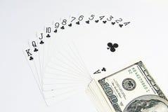 Κάρτες πόκερ άσσων καθορισμένες Στοκ φωτογραφία με δικαίωμα ελεύθερης χρήσης