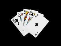 Κάρτες πόκερ, βασιλική λάμψη στοκ εικόνες