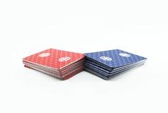 Κάρτες πόκερ παιχνιδιού Στοκ φωτογραφίες με δικαίωμα ελεύθερης χρήσης