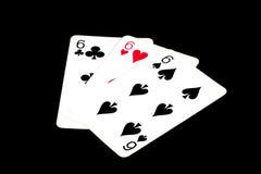 Κάρτες πόκερ, πλακατζές Στοκ φωτογραφία με δικαίωμα ελεύθερης χρήσης
