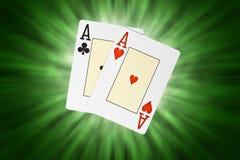 Κάρτες πόκερ στοκ φωτογραφίες
