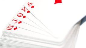 Κάρτες πόκερ Στοκ εικόνα με δικαίωμα ελεύθερης χρήσης