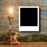 Κάρτες πλαισίων φωτογραφιών Χριστουγέννων για μια φωτογραφία Στοκ Εικόνες
