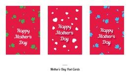 Κάρτες σχεδίου χαιρετισμού ημέρας της ευτυχούς μητέρας Στοκ Εικόνα