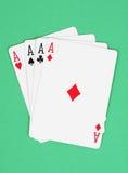 κάρτες τέσσερα άσσων που &p στοκ φωτογραφία με δικαίωμα ελεύθερης χρήσης
