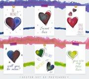Κάρτες της ημέρας βαλεντίνων ` s του ST Στοκ Φωτογραφία
