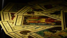Κάρτες της περιστροφής tarot απόθεμα βίντεο