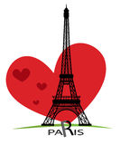 Κάρτες του Παρισιού ως αγάπη συμβόλων Στοκ εικόνες με δικαίωμα ελεύθερης χρήσης