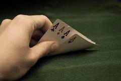 Κάρτες του πόκερ Στοκ φωτογραφία με δικαίωμα ελεύθερης χρήσης