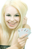 κάρτες τυχερές Στοκ εικόνα με δικαίωμα ελεύθερης χρήσης