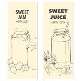 Κάρτες φρούτων περιλήψεων απεικόνιση αποθεμάτων