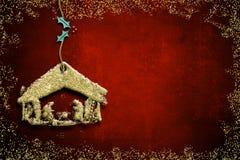 Κάρτες χαιρετισμών σκηνής Nativity Χριστουγέννων Στοκ φωτογραφίες με δικαίωμα ελεύθερης χρήσης