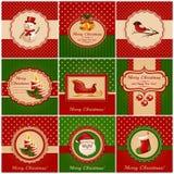 Κάρτες Χριστουγέννων. Διανυσματική απεικόνιση. Στοκ Φωτογραφία