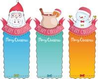 Κάρτες Χριστουγέννων με Άγιο Βασίλη Στοκ Φωτογραφία