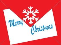 Κάρτες Χριστουγέννων σε έναν φάκελο Στοκ Εικόνες