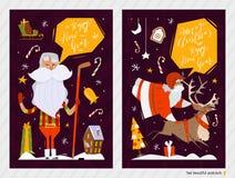 Κάρτες Χριστουγέννων Στοκ Εικόνες