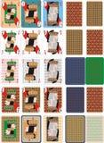 Κάρτες ΧΡΩΜΑΤΟΣ παιχνιδιού για RUMMU 4 διανυσματική απεικόνιση