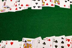 Κάρτες Baize Στοκ φωτογραφία με δικαίωμα ελεύθερης χρήσης