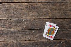 Κάρτες Blackjack Στοκ φωτογραφία με δικαίωμα ελεύθερης χρήσης