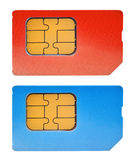 κάρτες sim δύο Στοκ εικόνα με δικαίωμα ελεύθερης χρήσης