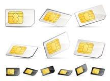 κάρτες sim Στοκ Εικόνες