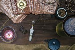 κάρτες tarot Αφηγητής τύχης divination στοκ φωτογραφίες με δικαίωμα ελεύθερης χρήσης
