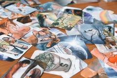 Κάρτες Tarot μυστικές στοκ εικόνα