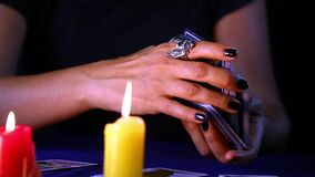 κάρτες tarot απόθεμα βίντεο