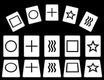 Κάρτες Zener Στοκ Εικόνα