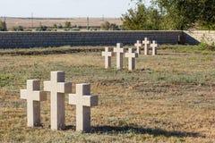 Κάρδαμο στο γερμανικό νεκροταφείο Rossoshk Βόλγκογκραντ, Ρωσία Στοκ Εικόνες