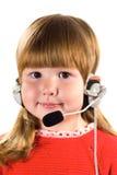 κάσκα κοριτσιών λίγα Στοκ φωτογραφία με δικαίωμα ελεύθερης χρήσης