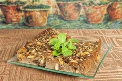 κάστανο κέικ Στοκ εικόνα με δικαίωμα ελεύθερης χρήσης