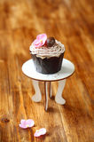 Κάστανο Mont Blanc Cupcake Στοκ φωτογραφία με δικαίωμα ελεύθερης χρήσης