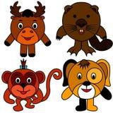 Κάστορας αλκών πιθήκων σκυλιών απεικόνιση αποθεμάτων