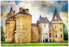 κάστρα της Γαλλίας, καλλιτεχνική εικόνα Στοκ Εικόνες