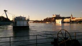 κάστρο γεφυρών της Βρατι&sigma Στοκ Εικόνες