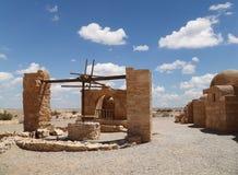 Κάστρο ερήμων Amra Quseir (Qasr) κοντά στο Αμμάν, Ιορδανία Στοκ εικόνες με δικαίωμα ελεύθερης χρήσης