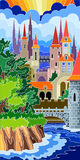 κάστρο ζωηρόχρωμο Στοκ εικόνες με δικαίωμα ελεύθερης χρήσης