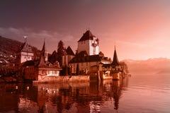 κάστρο ημέρα Ελβετός Στοκ φωτογραφίες με δικαίωμα ελεύθερης χρήσης