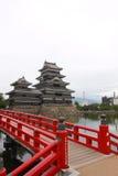 κάστρο Ιαπωνία Ματσουμότ&omicro Στοκ φωτογραφία με δικαίωμα ελεύθερης χρήσης