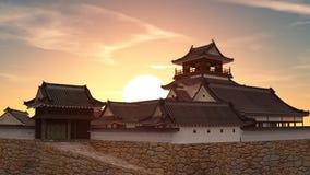 κάστρο ιαπωνικά Ελεύθερη απεικόνιση δικαιώματος