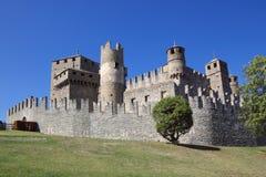 κάστρο Ιταλία aosta Στοκ Φωτογραφία