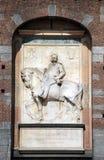 κάστρο ι άγαλμα Umberto sforza του Μι&lam Στοκ Φωτογραφία