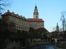 Κάστρο και πύργος Krumlov Cesky Στοκ φωτογραφίες με δικαίωμα ελεύθερης χρήσης