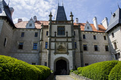 Κάστρο και πύργος Zleby Στοκ φωτογραφία με δικαίωμα ελεύθερης χρήσης