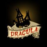Κάστρο και ρόπαλο Dracula ` s Στοκ Φωτογραφία