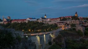 κάστρο καμία διαφάνεια ηλιοβασιλέματος Στοκ Εικόνες