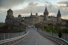 κάστρο καμία διαφάνεια ηλιοβασιλέματος Στοκ Εικόνα