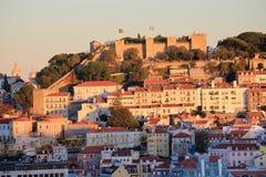 κάστρο Λισσαβώνα Πορτογ&a Στοκ Εικόνα
